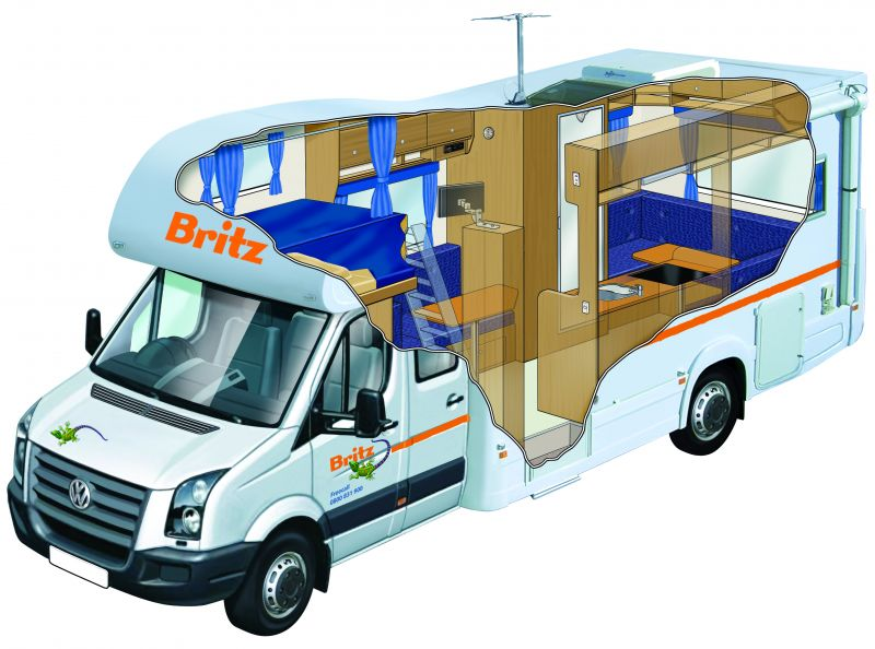 Britz Renegade 6 Berth Flex Rates 6 7 Berth Motorhome