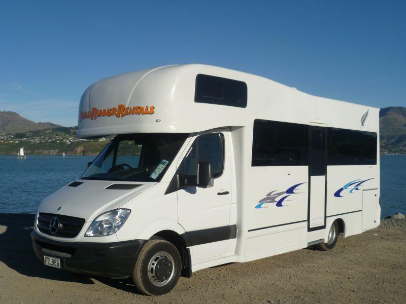 Rrr mercedes 6 berth 6 7 berth motorhome new zealand for Mercedes benz camper van rental