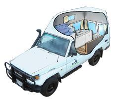 ecc2f661a0 Freedom 2-3 Berth 4WD Bushcamper (Toyota Landcruiser) - 4 Wheel ...